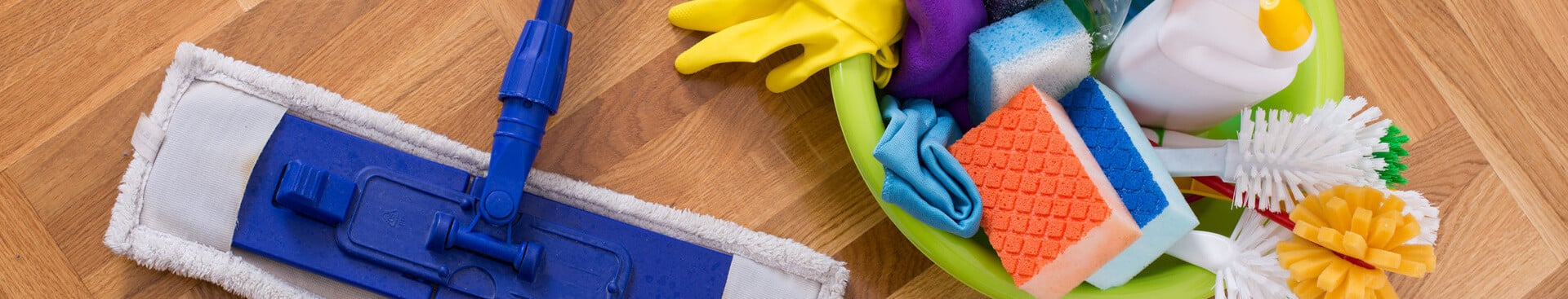 Mop and cleaning supplies